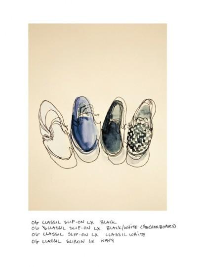 Иллюстрированный лукбук весенней коллекции марки Vans Vault. Изображение № 5.