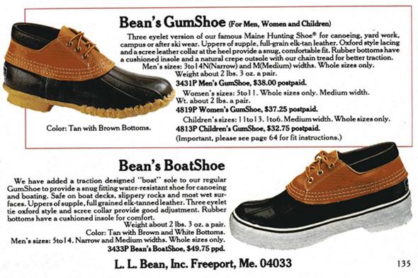 В 1983 и 1984 годах L.L. Bean решили соединить яхтенные туфли с «лягушками». Эксперимент был одноразовым. Изображение № 9.