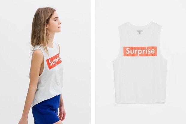 Бренд Zara «позаимствовал» дизайн марки Supreme. Изображение № 2.