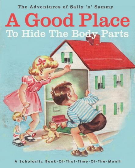 Иллюстратор Боб Стэйк создал пародии на обложки старых детских книжек   . Изображение № 4.