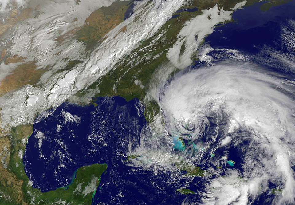 Фотографии урагана Сэнди, вид из космоса. Изображение № 4.