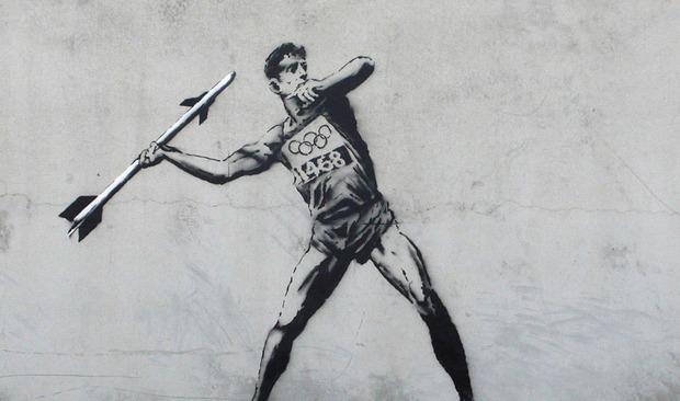 Бэнкси посвятил новые работы Олимпиаде. Изображение №1.