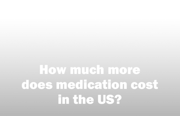 How much more does medication cost in the US?