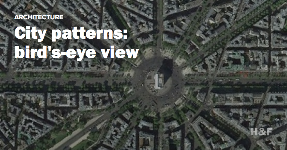 City patterns: bird's-eye view