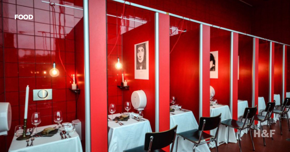 Pop-up restaurant serves dinner in bathrooms and trains