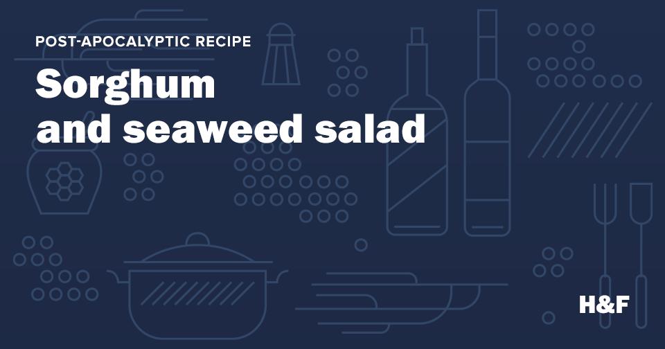 Sorghum and seaweed salad