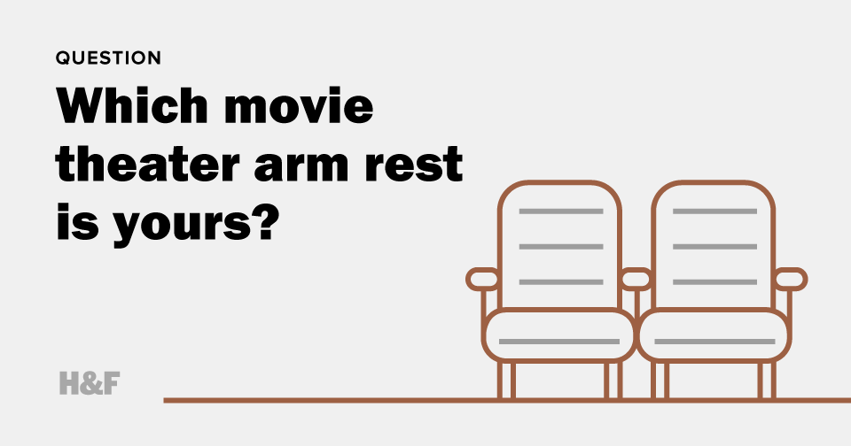 Which movie theater arm rest is yours?