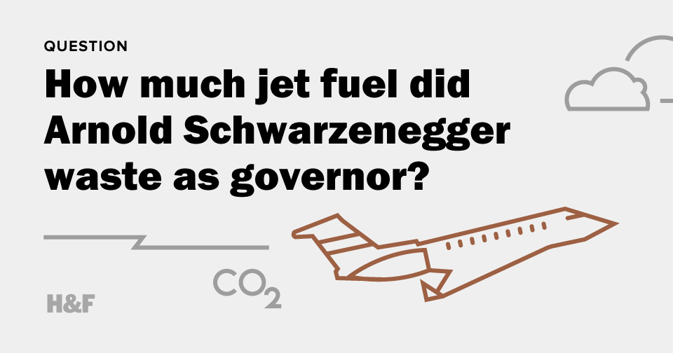 How much jet fuel did Arnold Schwarzenegger waste as governor?