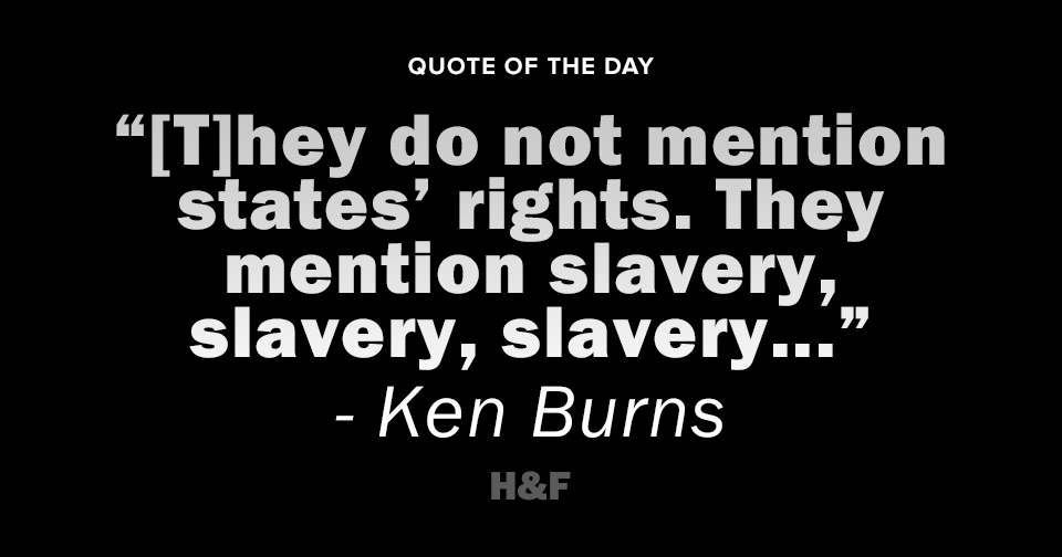 Ken Burns speaks on the centrality of slavery in the American Civil War
