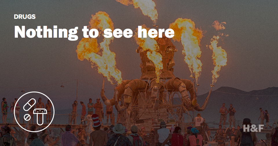 The DEA's report on Burning Man is censored, boring