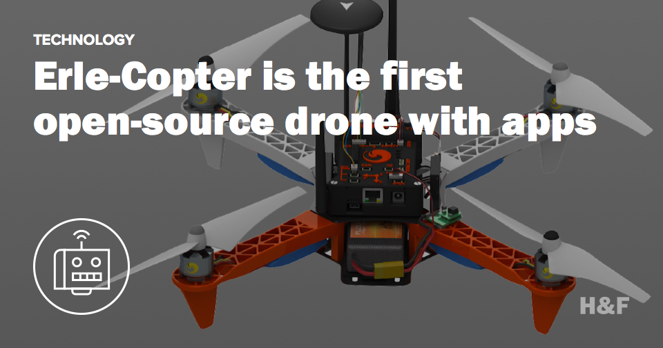 Erle-Copter is the first open-source drone with apps