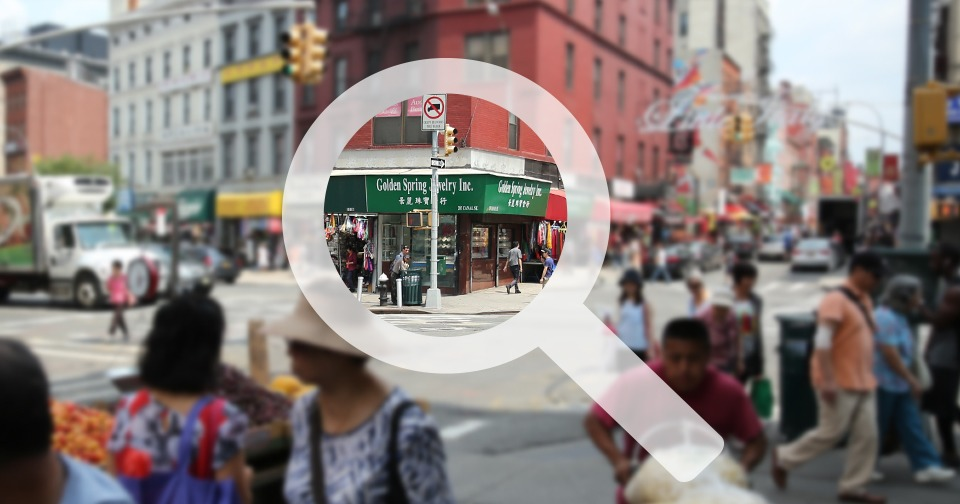 Augmented Reality: annotating the corner of Canal and Mulberry, NYC