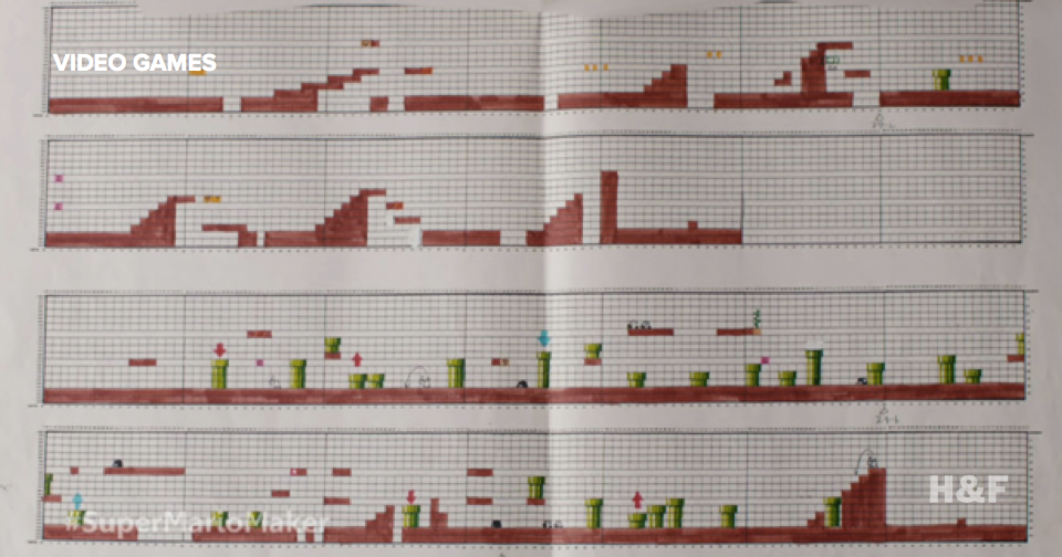Original Super Mario was designed on graph paper