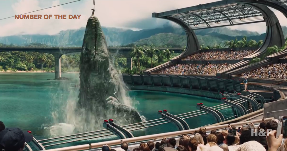 """Flabby"" but ""impressive"" 'Jurassic World' beats box office record"