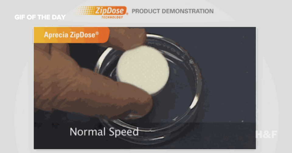 Watch the first FDA approved 3D-printed drug dissolve magically in seconds