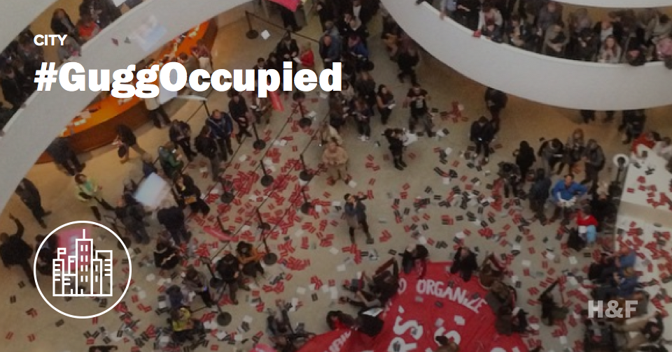 #GuggOccupied: Protestors occupy the Guggenheim over Abu Dhabi labor practices, museum closes