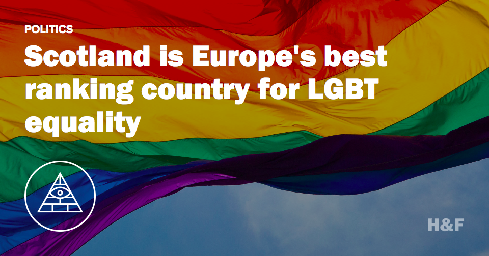 Scotland is Europe's best ranking country for LGBT equality