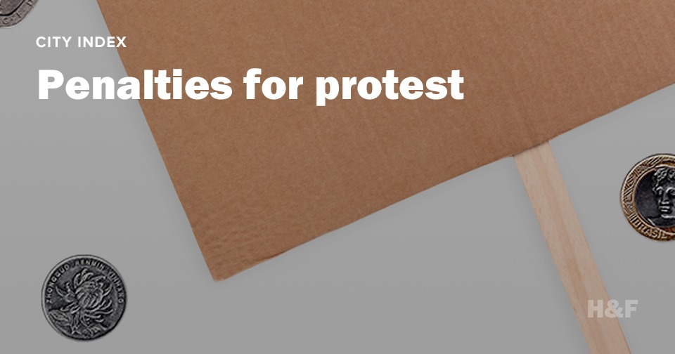 What are the penalties for protesting around the world?