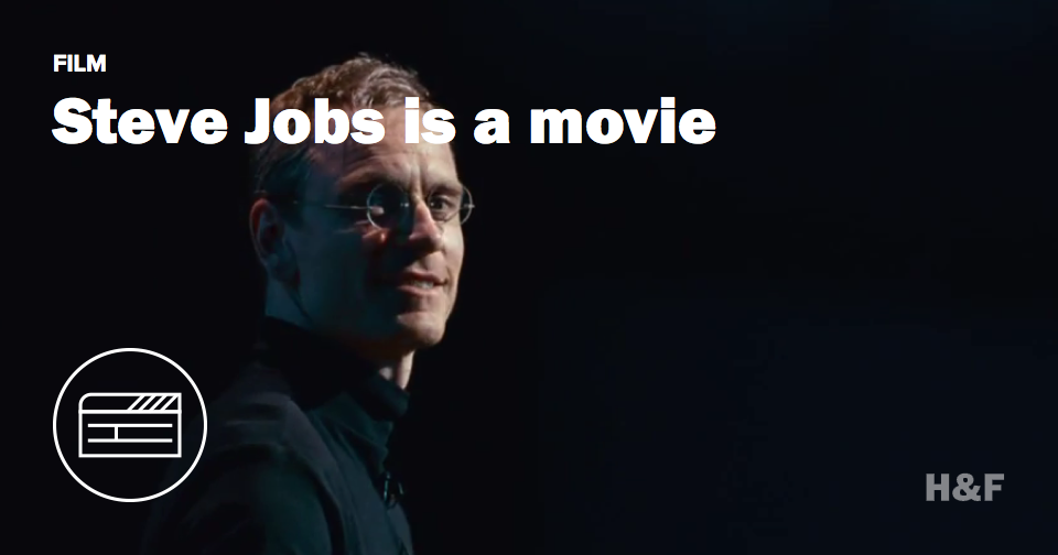 This is Michael Fassbender as Steve Jobs
