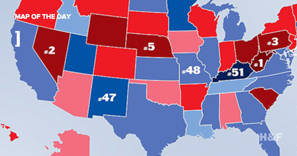 Ladies and gentlemen, the drunkest states in America