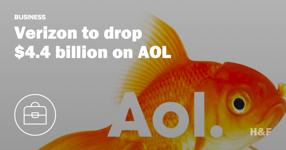 Verizon to drop $4.4 billion on AOL