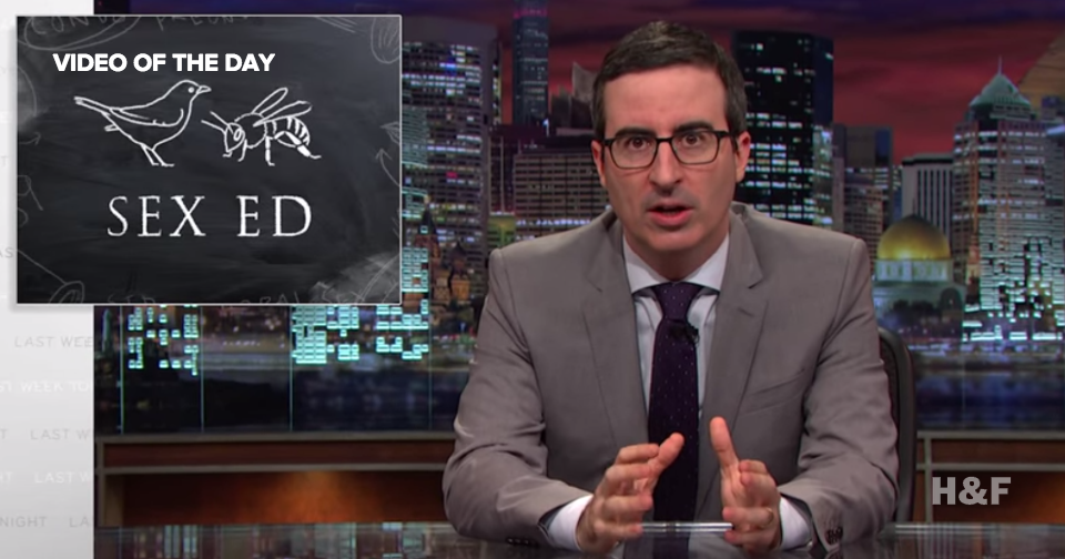 John Oliver takes on America's shameful sex ed standards