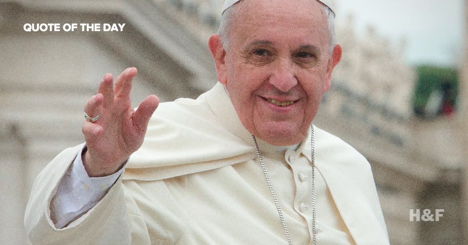 "Pope Francis says ""God is not a magician with a magic wand"""