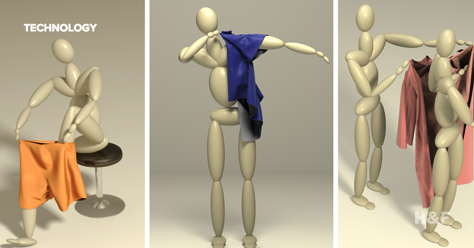 Computer animated characters learn to dress themselves
