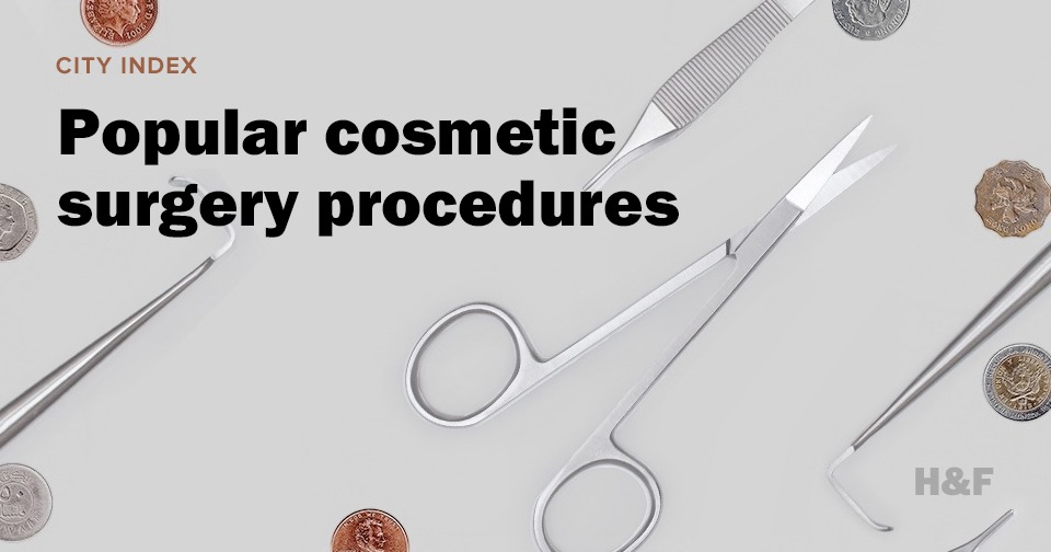 What are the most popular cosmetic surgeries around the world?