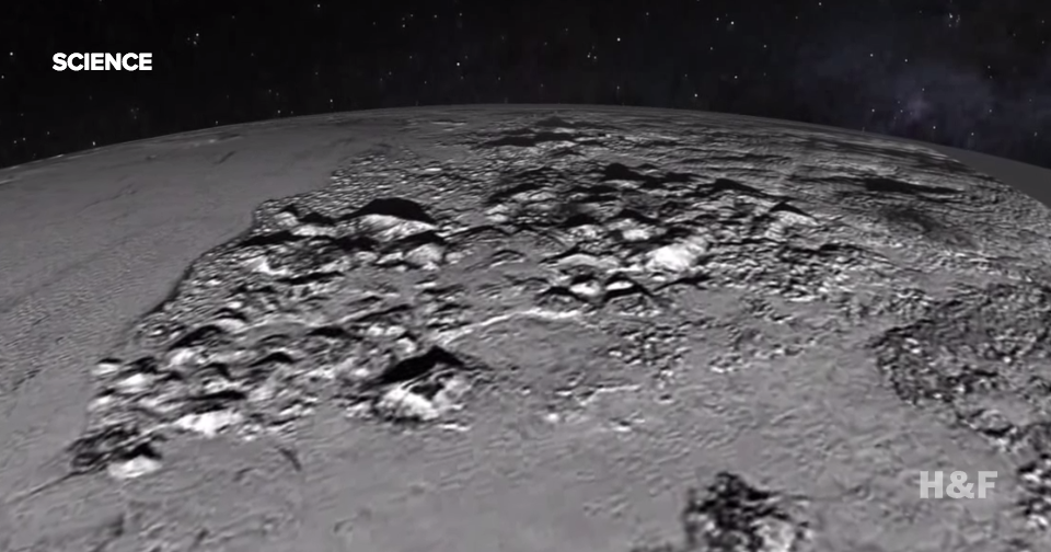 "This is what you see when you fly over Pluto's ""heart"""