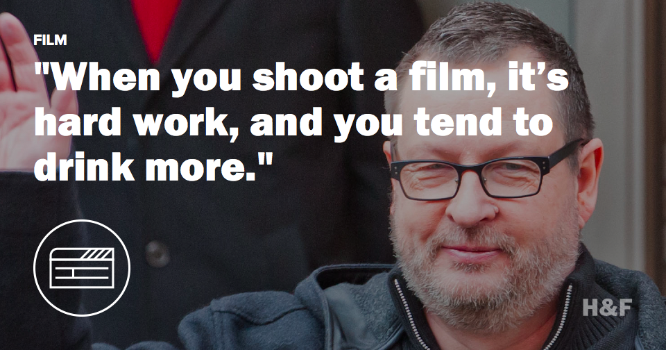 Lars Von Trier is drinking, working again