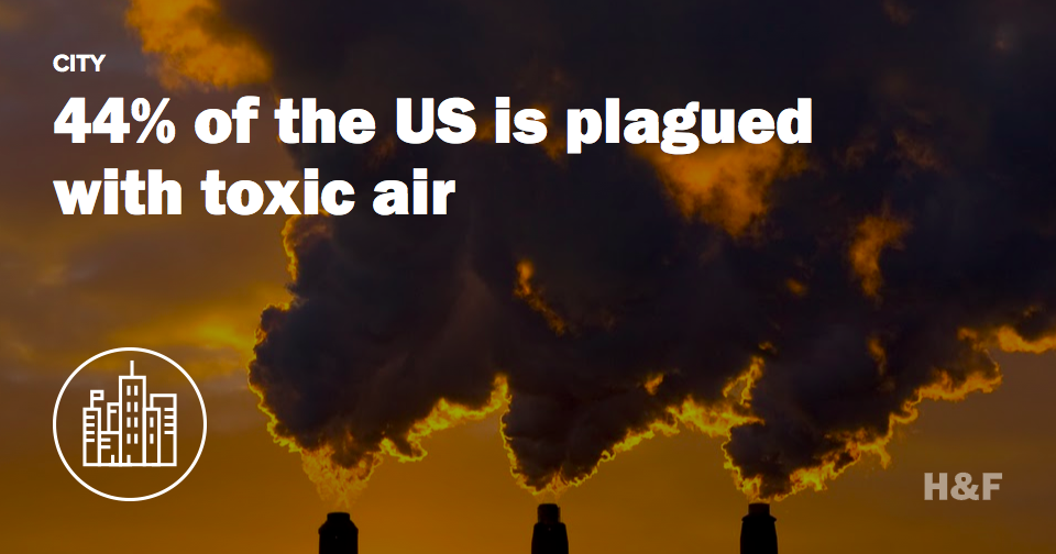 Almost half of the US population suffers from air pollution