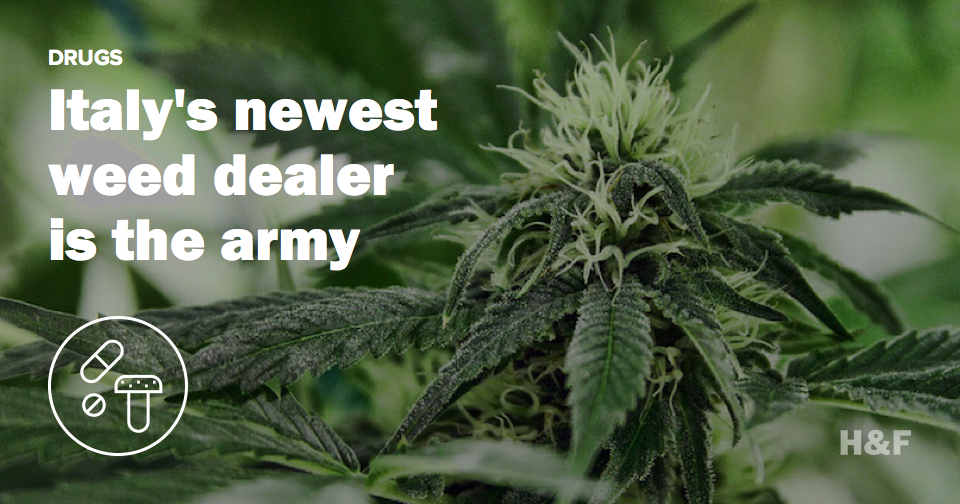 Italy's newest weed dealer is the Italian army