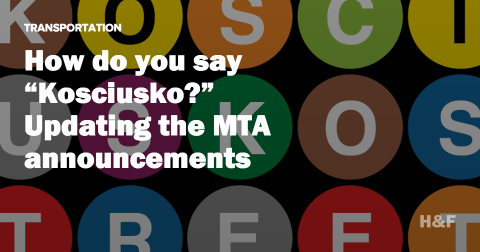 "How do you say ""Kosciuszko?""