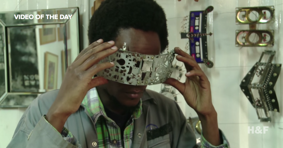 This Nairobi artist makes elaborate eyewear out of e-trash