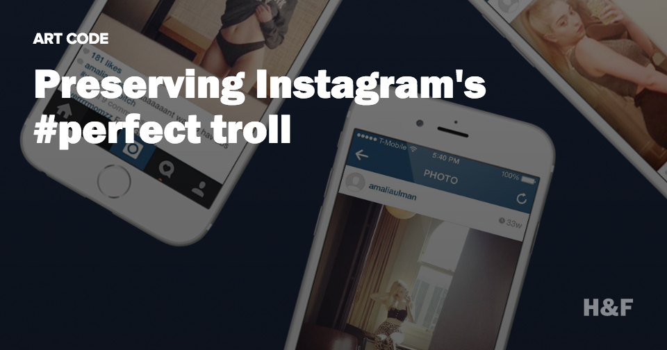 Preserving Instagram's  #perfect troll