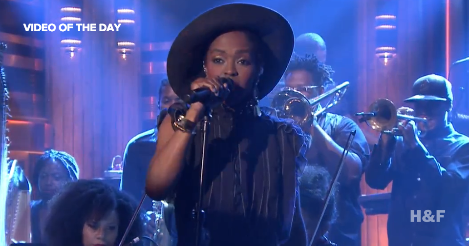 "Lauryn Hill covers Nina Simone's ""Feeling Good"" on The Tonight Show"