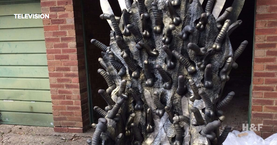 Used dildo throne replica of Game of Thrones' Iron Throne is for sale on eBay