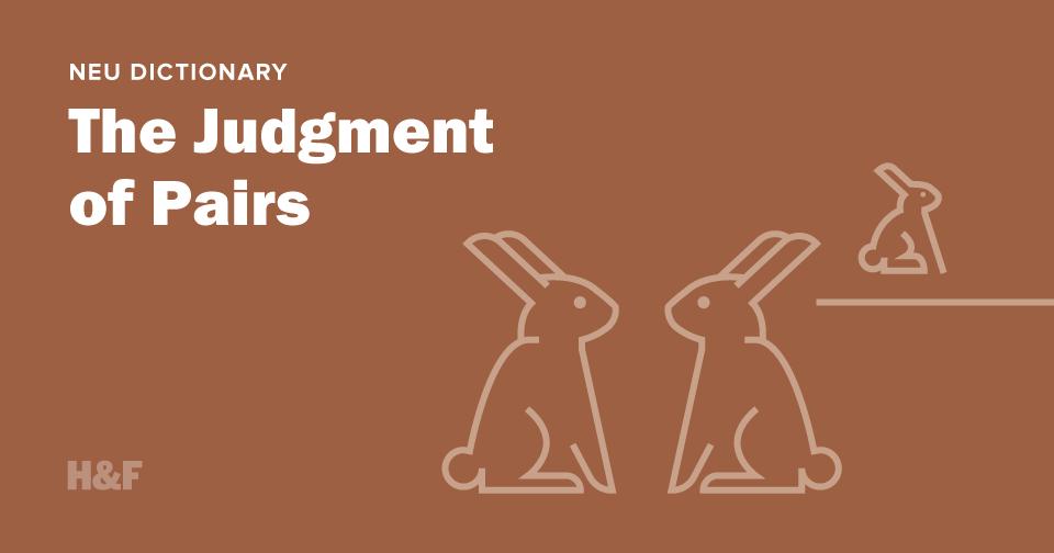 The Judgement of Pairs