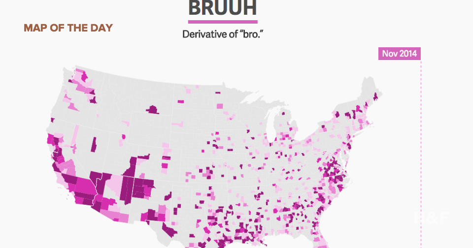"Watch slang like ""bruuh"" and ""on fleek"" spread across the United States"