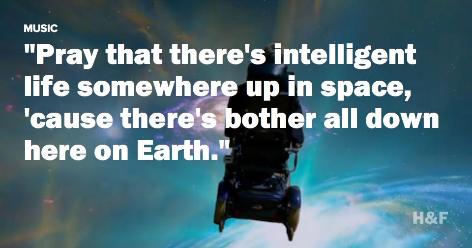 Stephen Hawking sings Monty Python