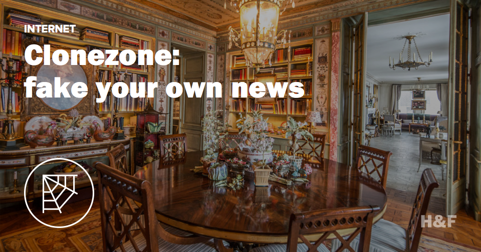 Clone Zone: fake your own news