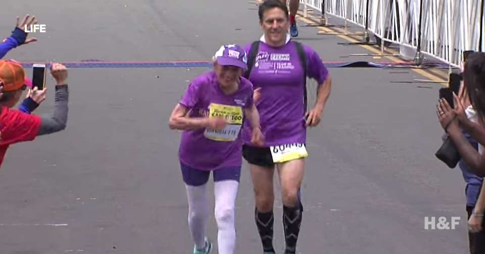 92-year-old cancer survivor Harriette Thompson just became the oldest woman to finish a marathon