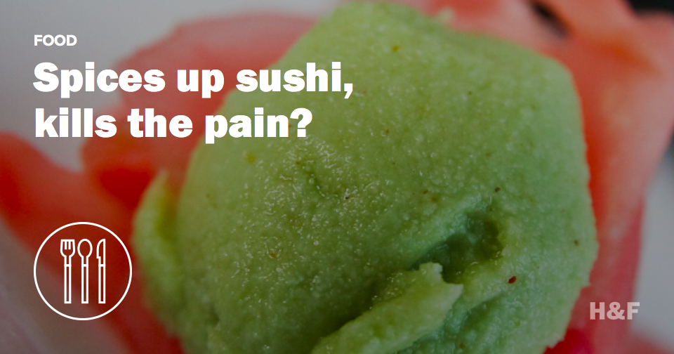 Wasabi could become the next big painkiller on the market