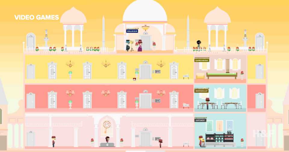Be the lobby boy in 'The Grand Budapest Hotel' video game