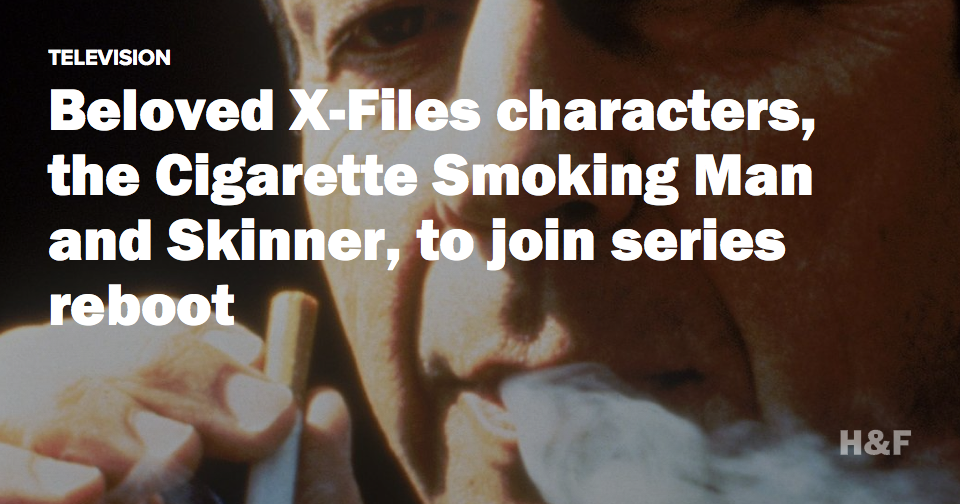 Beloved X-Files characters, the Cigarette Smoking Man and Skinner, to join series reboot