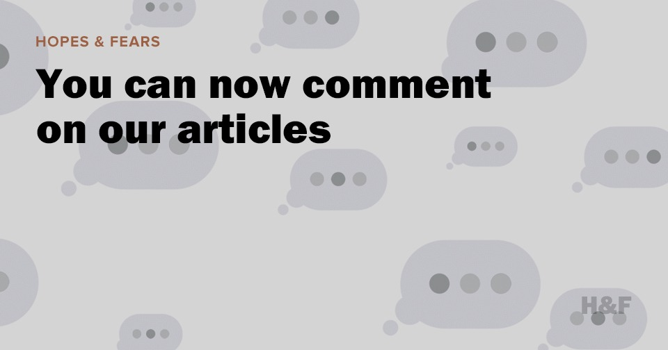 You can now comment on our articles