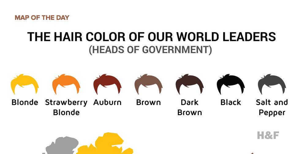 Map organizes world leaders by hair color