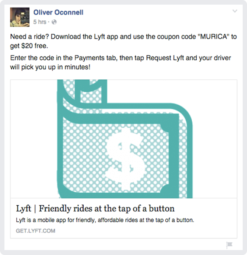 Inside the world of Lyft spam on Facebook. Image 7.