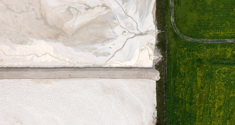 Paragliding over artscapes of industrial waste. Image 5.